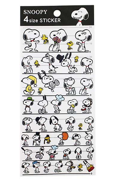 【卡漫城】  Snoopy 貼紙 4種尺寸 ㊣版 裝飾貼 日版 史努比 史奴比 糊塗塔克 筆記貼 造型貼 日本製