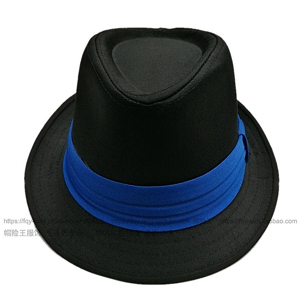 簡約黑白色條紋禮帽三折帶禮帽爵士帽男女情侶款拍照攝影【快速出貨】