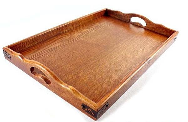 【協貿國際】酒席盤木製復古盤