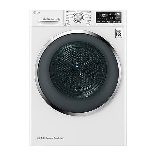 LG樂金 9公斤 熱泵式低溫除溼 變頻免曬衣乾衣機 WR-90TW
