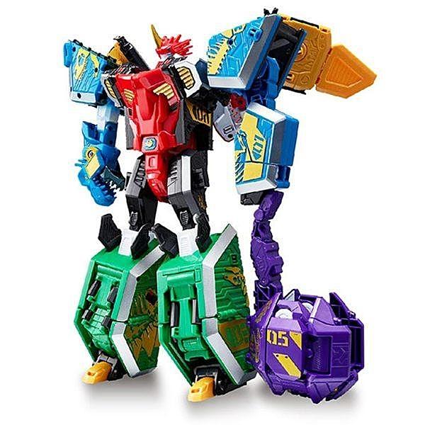 機甲超獸王GEO MECHA 無敵龍王_YT16015(可拆解為五機體) Young Toys 公司貨