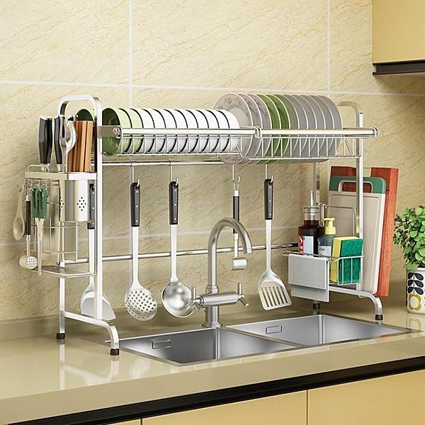 快速出貨 收納架 304不鏽鋼水槽晾碗架瀝水架廚房置物架2層用品收納水池放碗碟架子
