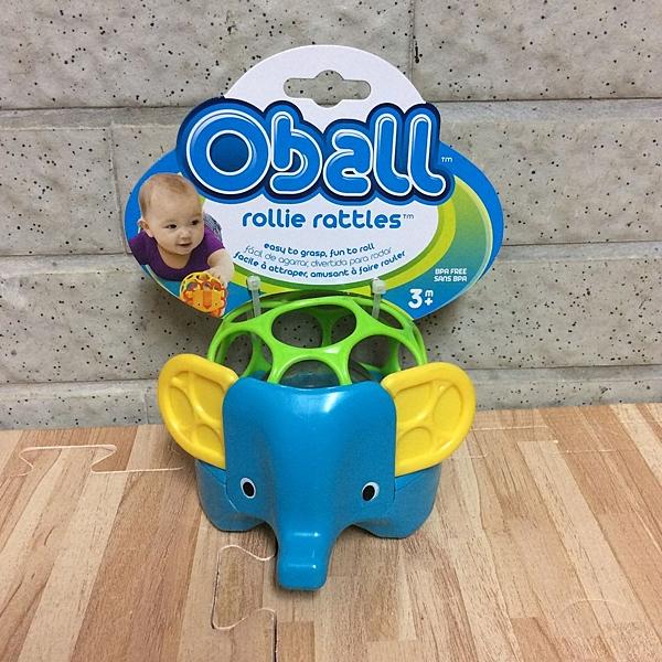 美國 Kids II-Oball 洞動動物球(藍大象)-超級BABY