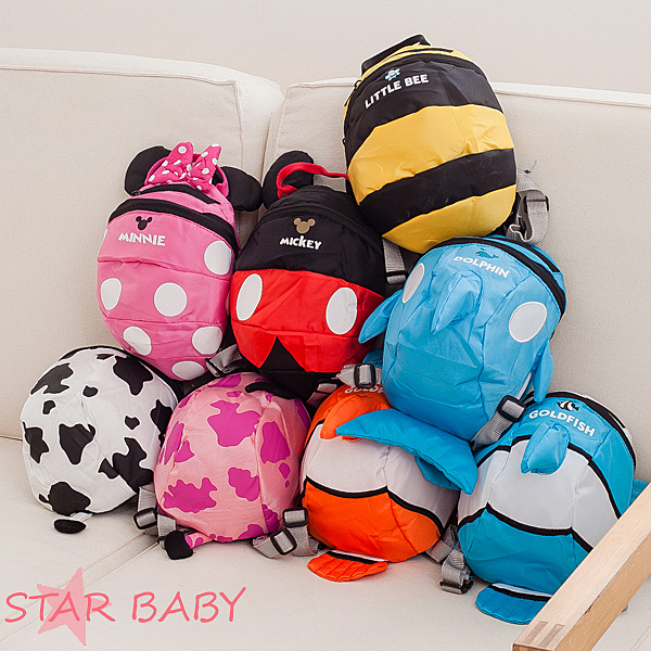 ☆STAR BABY☆兒童可愛米奇 米妮 造型背包-大