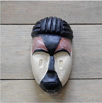 原始部落臉譜面具掛件(一個價)(圖一)-RN511
