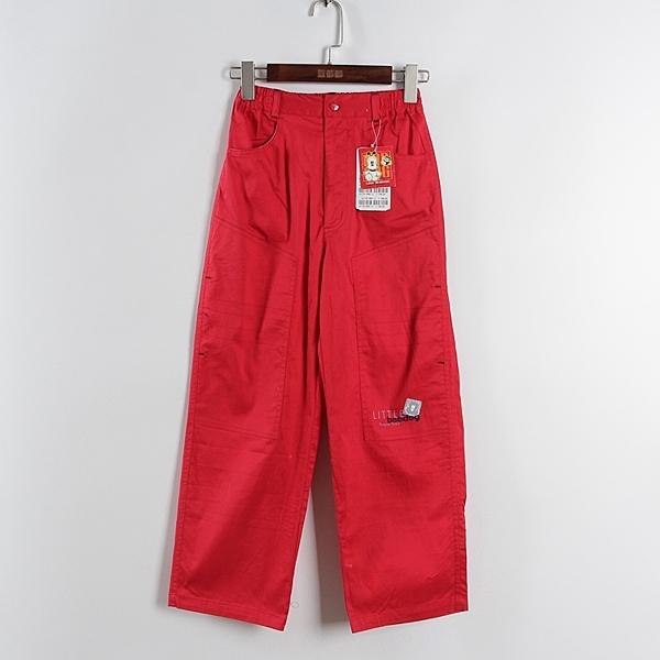 [超豐國際]巴春夏裝女童中國紅純色寬松百搭褲子 43545(1入)