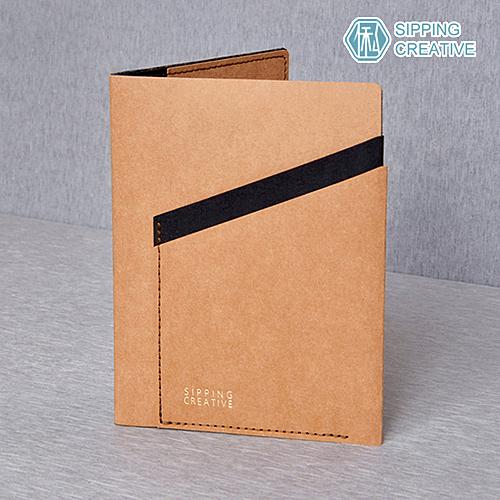俬品創意 - 設計款紙革護照夾 - 時尚駝