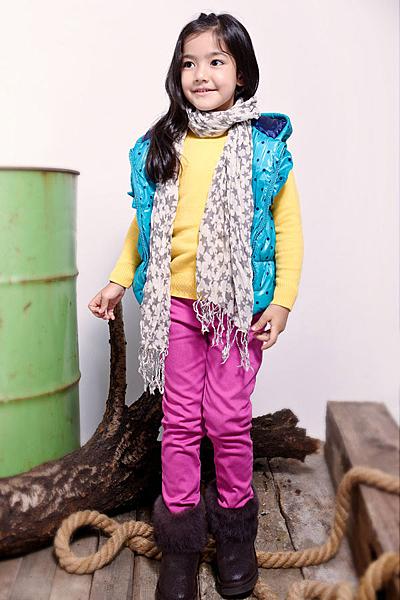 [韓風童品] 出口歐美 點點保暖禦寒帶帽背心 超可愛超保暖時尚背心 防風背心 兒童保暖背心