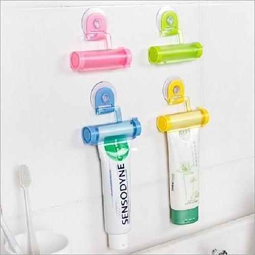 懶人吸盤式手動擠牙膏夾 擠牙膏器 擠牙膏架 吸盤擠牙膏 懶人擠牙膏 牙膏夾牙膏收納【Z00042】