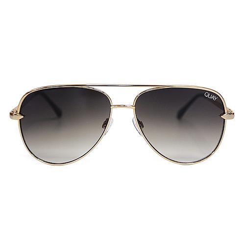 Quay Australia澳洲品牌 SAHARA MINI 設計款飛行員墨鏡太陽眼鏡 棕綠/金框
