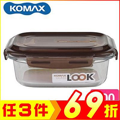 (特價出清) 韓國 KOMAX 巧克力長形強化玻璃保鮮盒600ml 59075【AE02253】i-Style居家生活
