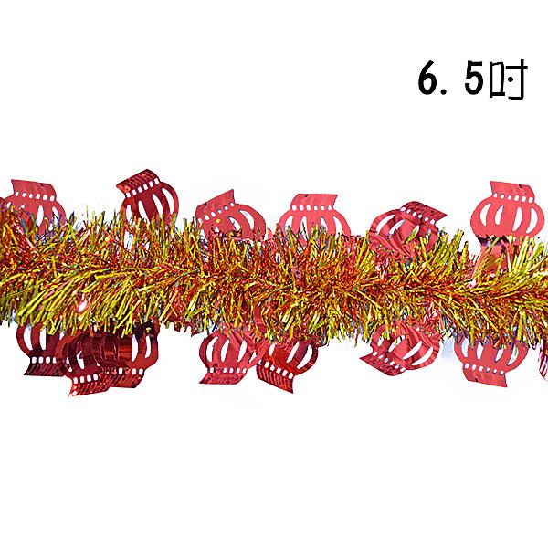 """節慶王【Z278569】6.5""""宮燈造型金蔥條,春節/過年/過年佈置/鼠年/彩條/掛飾/拉條"""