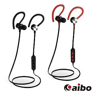 【aibo】BTH2 運動耳掛式 藍牙耳機麥克風全黑