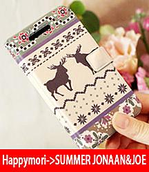 【韓國原裝 Happymori】※Deer Sweater※ 側開手機皮套適用iphone4s/4 Galaxy S2 i9100