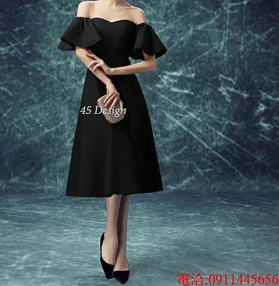 (45 Design)  7天到貨 新款伴娘團禮服春短款香檳色伴娘服姐妹裙結婚小禮服伴娘裙 訂製5