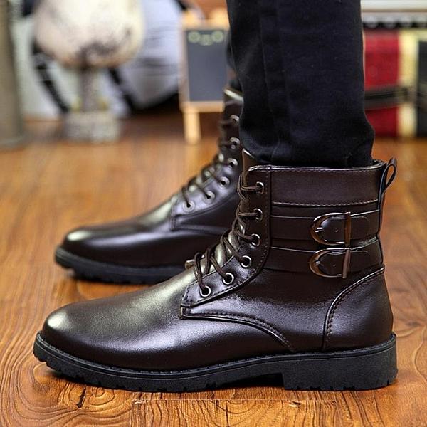 快速出貨 冬季馬丁靴男士高幫棉鞋男靴子中幫工裝皮靴雪地棉靴加絨刷毛保暖軍靴