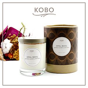 【KOBO】美國大豆精油蠟燭 - 紫羅勒-330g/可燃燒80hr