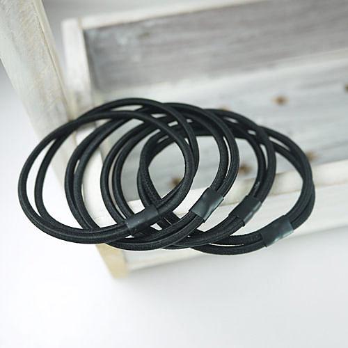 【黑色 4入】雙圈強力髮束