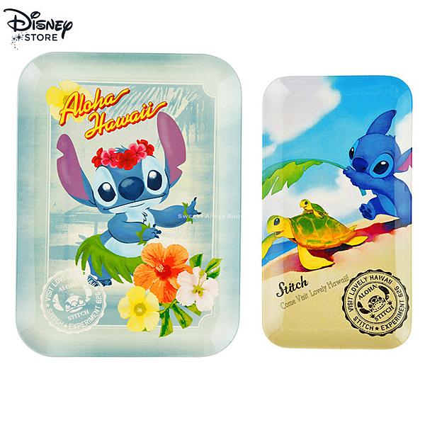 日本 Disney Store 迪士尼商店 限定 史迪奇 15th限定 餐盤 /  子母托盤 2入套組