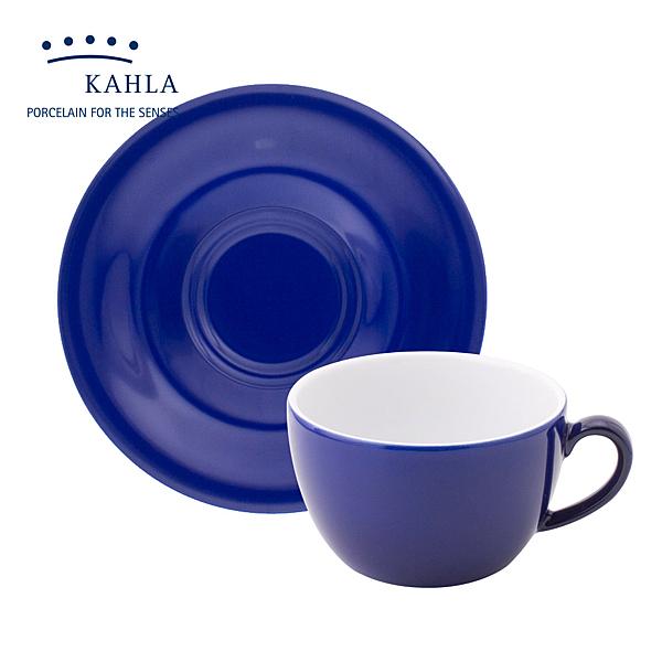 德國Kahla藍調之美(夜藍 Night Blue)-250ml杯盤組