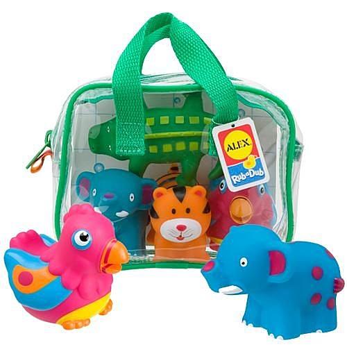 【美國 Alex】可愛噴水洗澡玩具 (叢林) 700JN