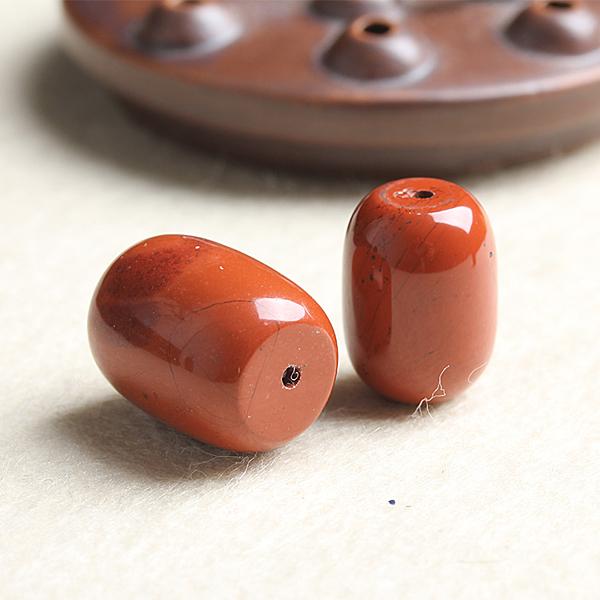 [超豐國際]DIY水晶飾品配件紅石桶珠直通半成品手工飾品隔珠1入