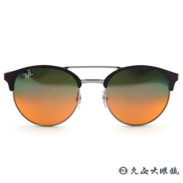 RayBan墨鏡 雷朋眉框 水銀太陽眼鏡 RB3545 9006A8 棕銀 久必大眼鏡