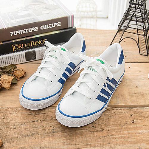 中國強 MIT 經典休閒帆布鞋CH81白藍(女鞋)