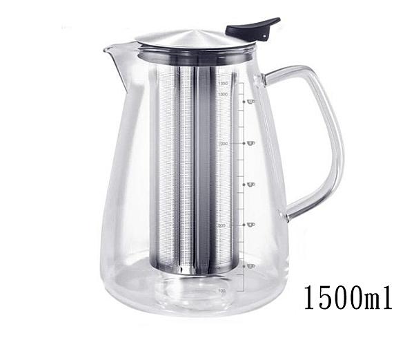 仙德曼 SADOMAIN 直火花茶壺 1500ml (附網) CS151 花茶壺 泡杯耐熱玻璃杯 泡茶杯