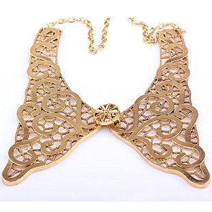 金屬鏤空花蝴蝶結領子項鏈