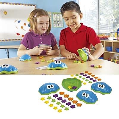 【華森葳兒童教玩具】數學教具系列-蚌殼螃蟹玩數學