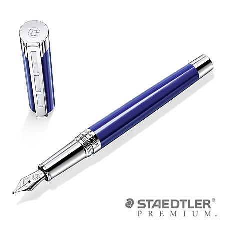 施德樓 PREMIUM 9PB113 RESINA 系列鋼筆(藍桿) EF/F/M尖 / 支