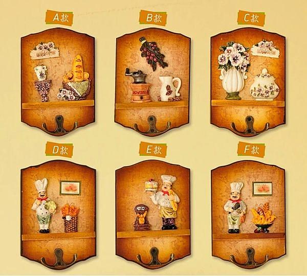 新款歐美鄉村風格木質掛鉤 立體掛鉤家居擺件壁飾裝飾品-you002