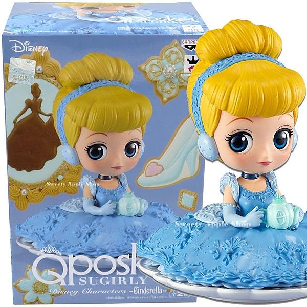 日本限定 Qposket 迪士尼公主 仙杜瑞拉 SUGIRLY版 模型公仔 (一般色)
