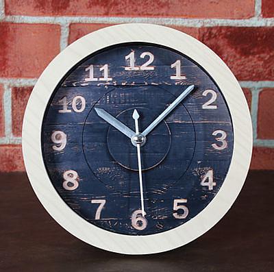 雕刻木頭鬧鐘(原木頭色)