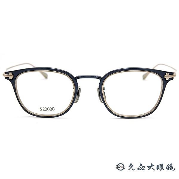 TAYLOR 眼鏡 日本手工 鈦 近視眼鏡 SKOLL 058 C03 黑-霧金久必大眼鏡