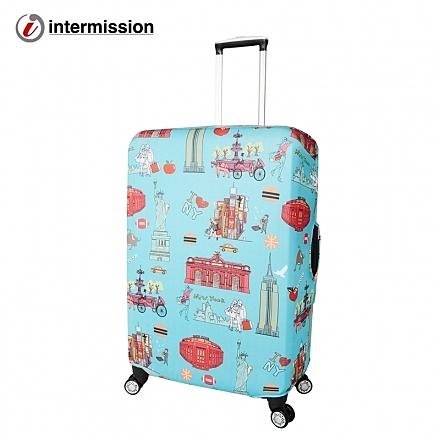 【Intermission】LCS350紐約 M號22-26吋日版彈力拉桿箱保護套 行李箱套