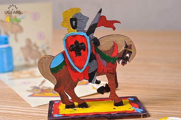 UGEARS 著色白馬王子 騎士 KNIGHT