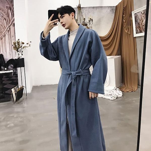 FINDSENSE G6 韓國時尚 秋冬新款大衣歐美風中長款腰帶OVERSIZE