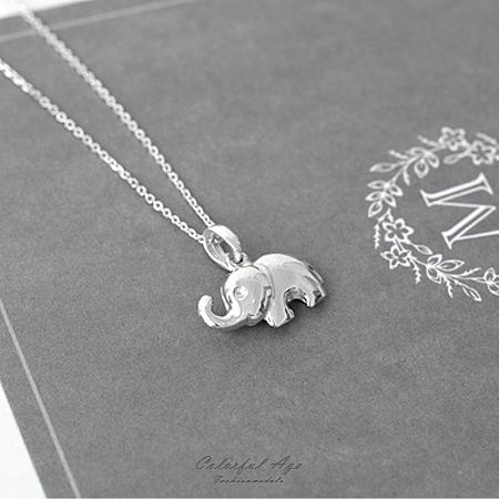 925純銀項鍊 動物系可愛大象鎖骨鍊頸鍊  活潑風格【NPB39】 抗過敏設計
