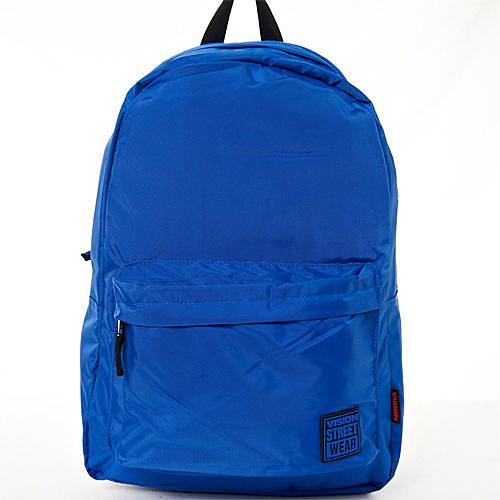 VISION STREET WEAR 潮牌時尚多色運動休閒雙肩後背包--寶藍-- VB2031L
