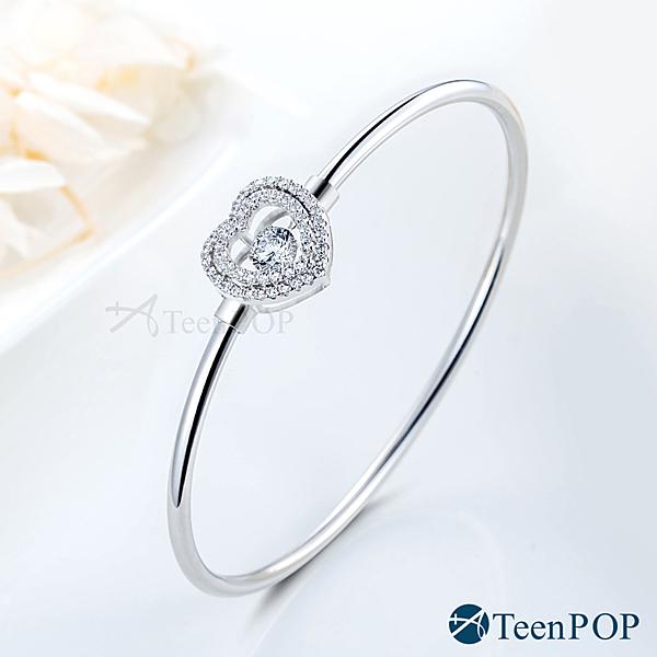 925純銀手環 ATeenPOP 跳舞的手環 愛入心扉 愛心 跳舞石 情人節禮物