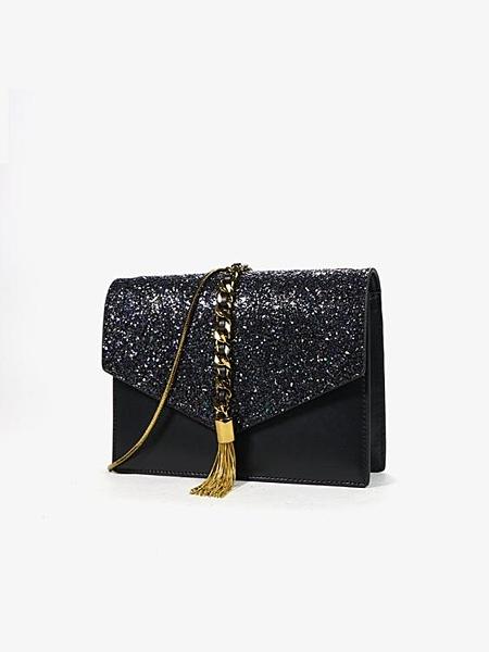 斜背包 小包包女包新款限定洋氣蛇骨鍊條小包斜挎流蘇包