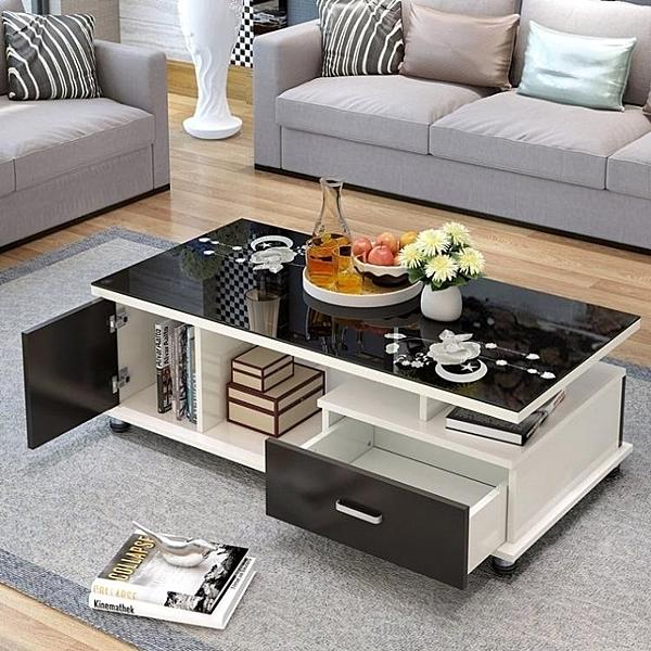 茶几  茶幾簡約現代鋼化玻璃茶几 客廳小戶型創意茶幾桌子