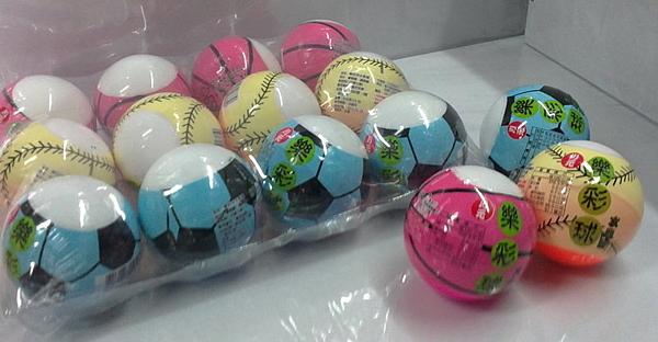 sns 古早味 懷舊零食 糖果 樂彩球 內附糖果 圓球 小球(12入)直徑6公分
