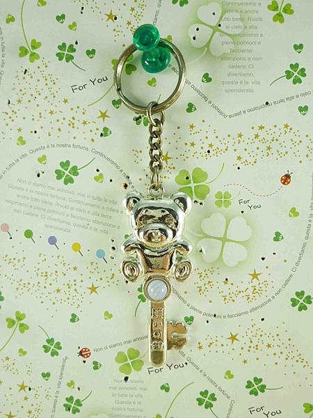 【震撼精品百貨】泰迪熊_Teddy Bear~造型鎖圈-銀鑰匙