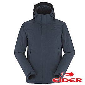 【法國EiDER】男 Gore-Tex 防水透氣保暖連帽外套 夜影 EIV3300