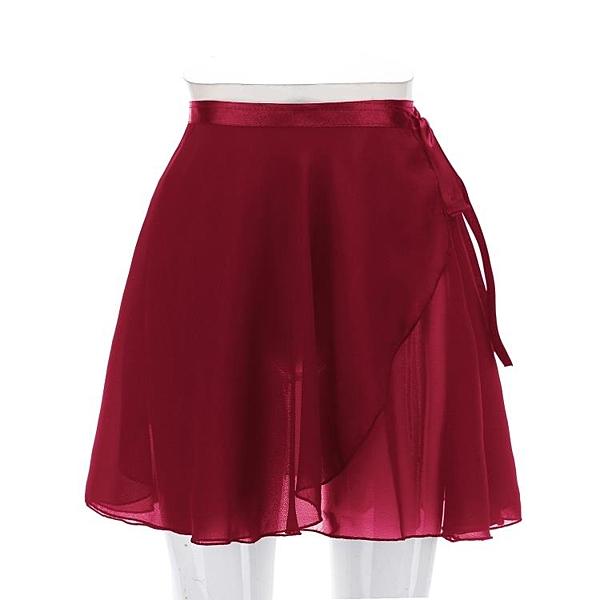 芭蕾舞裙練功服半身裙成人女形體裙舞蹈體操紗裙一片裙雪紡紗短裙