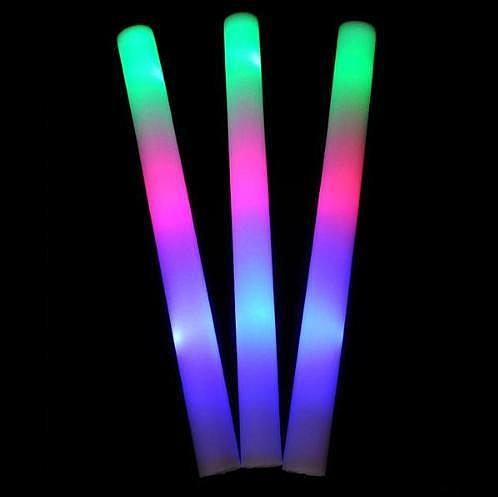七彩海綿發光棒~高效率改良版~加油棒~加油打氣發光海綿棒 追星 晚會 造勢專用