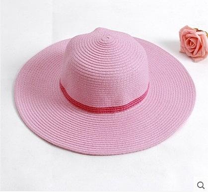 [協貿國際]心秀女童沙灘帽防曬帽粉紅